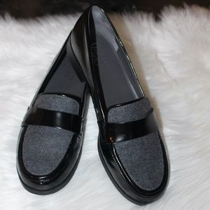 Franco Sarto, Loafers patent leather and grey felt